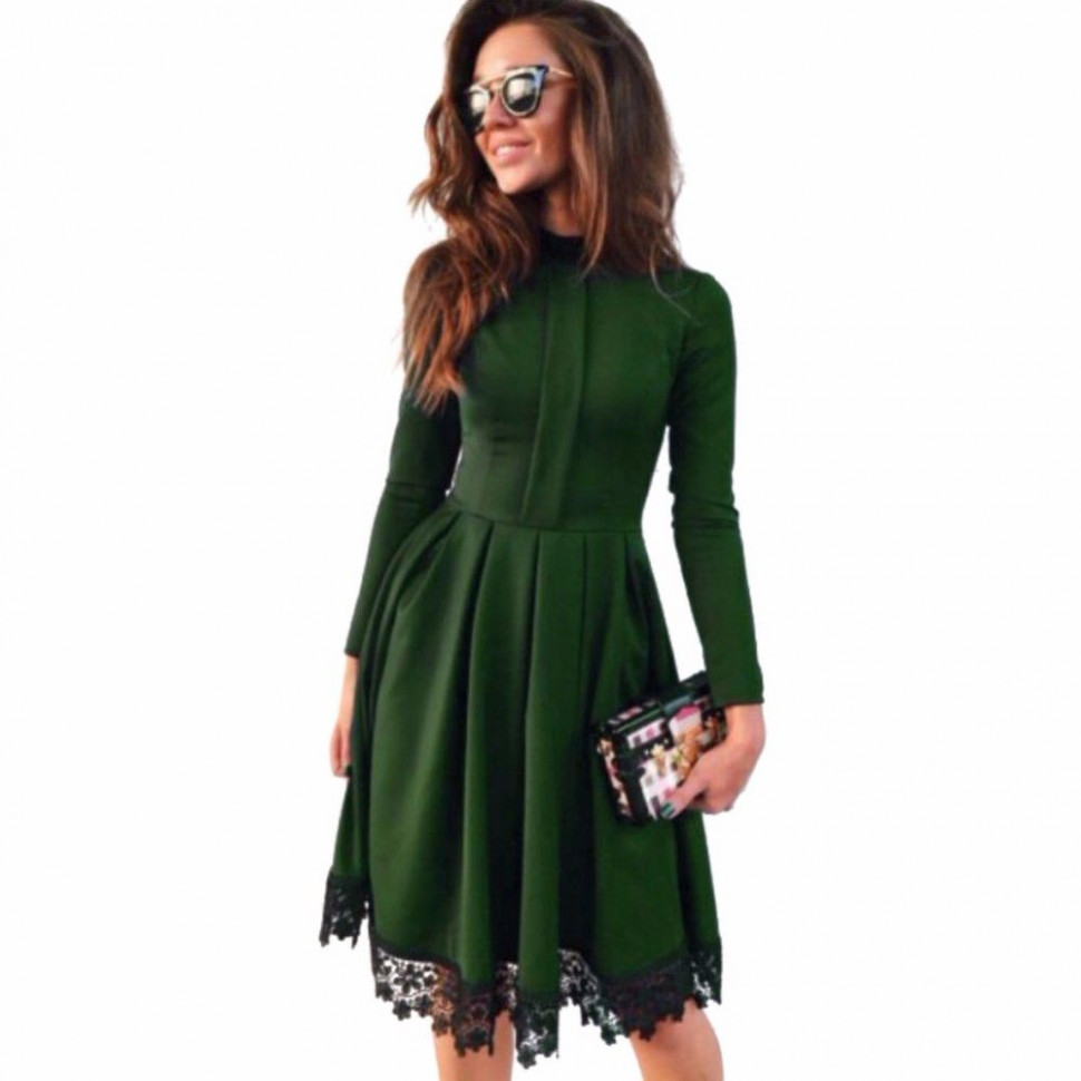 10 new fashion spring summer women dress casual long sleeve