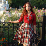 12s 12s Style Modern Version Of Vintage Fashions Plaid Skirt Red