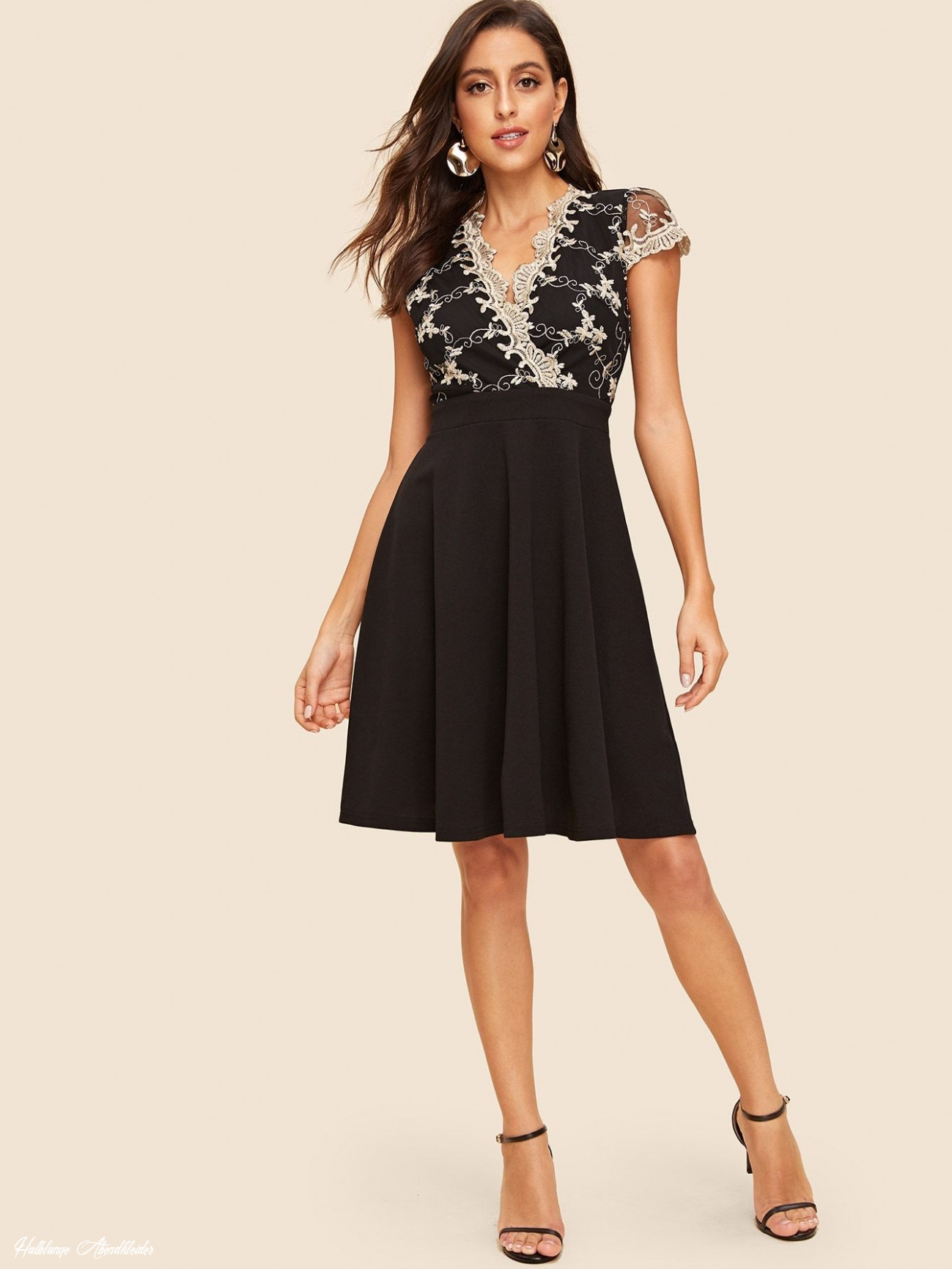 9s embroidered mesh overlay pleated dress #sponsored , #affiliate