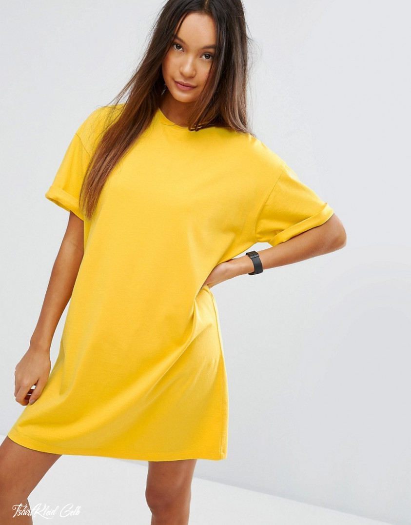 asos ultimate t shirt dress with rolled sleeves
