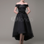 Asymmetrisches Abendkleid 11 Off-The-Schulter a-Linie Organza