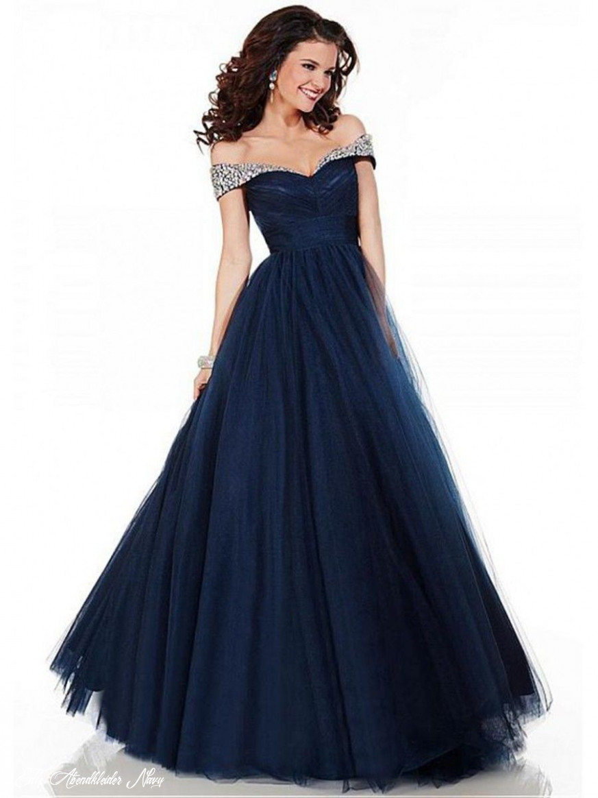 ball gown beaded off the shoulder long blue tulle prom formal
