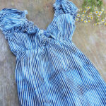 "Boho Sommer High Low Kleid Im Marine Look ""by The Sea"" 11er"