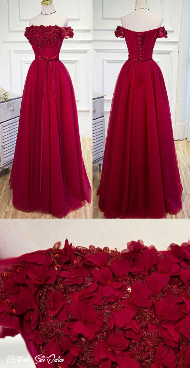 burgundy prom dresses, long prom dresses, long burgundy evening