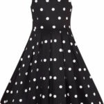 Dolly And Dotty Annie Polka Dot Punkte 10s Kids Swing Dress Kleid Schwarz