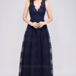 Dress Dark Blue Navy Lace Bridesmaid Dress, Navy Blue Lace Prom