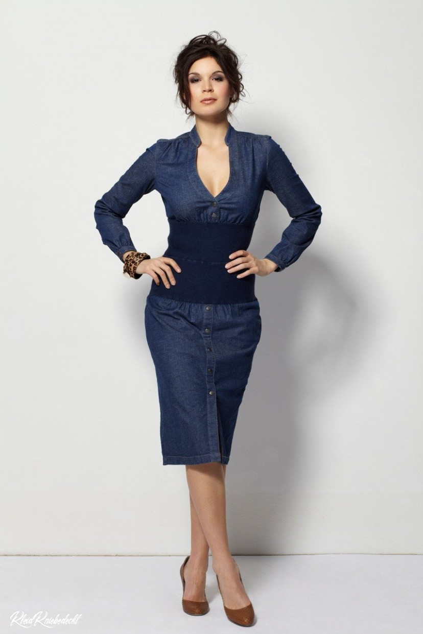 Dress Dea Blue Kleid Knielang