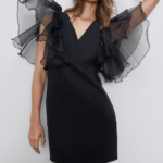Dress With Organza Sleeves New In Woman Zara United Kingdom