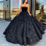 Elegant Sweetheart Black Ball Gown #ball #black #élégant #gown