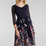 Esprit Collection Mesh Kleid mit Stickerei kaufen  OTTO