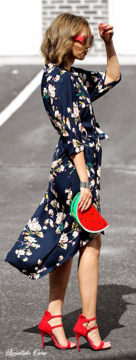 floral dress styling fashion, street style, style