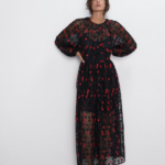 FLORAL EMBROIDERED OVERSIZED DRESS - View all-DRESSES-WOMAN  ZARA