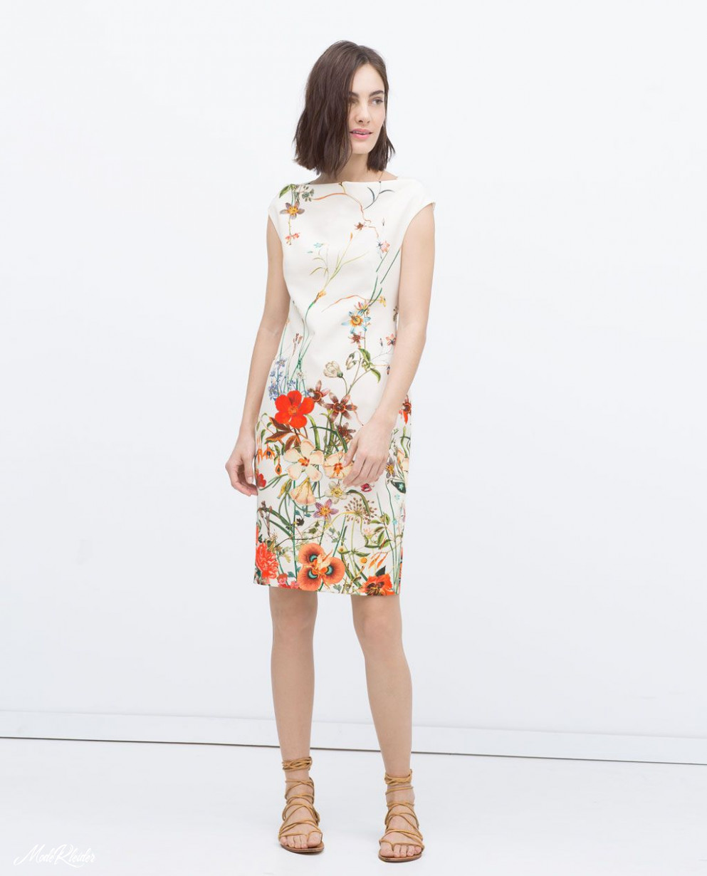 FLORAL PRINTED TUBE DRESS - Midi - Dresses - WOMAN  Zara floral
