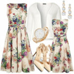 H&r London Pleated Multi Floral Swing Dress Kleid Knielang