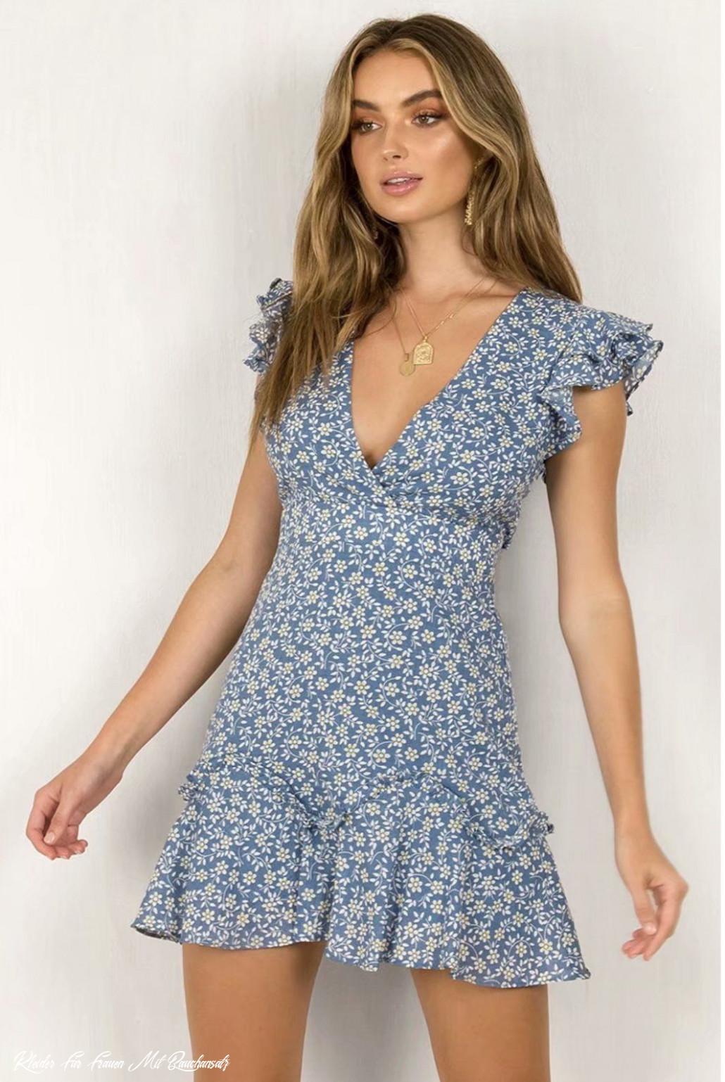 Holiday Backless Bow Blue Floral Dress In 11 Kleidung