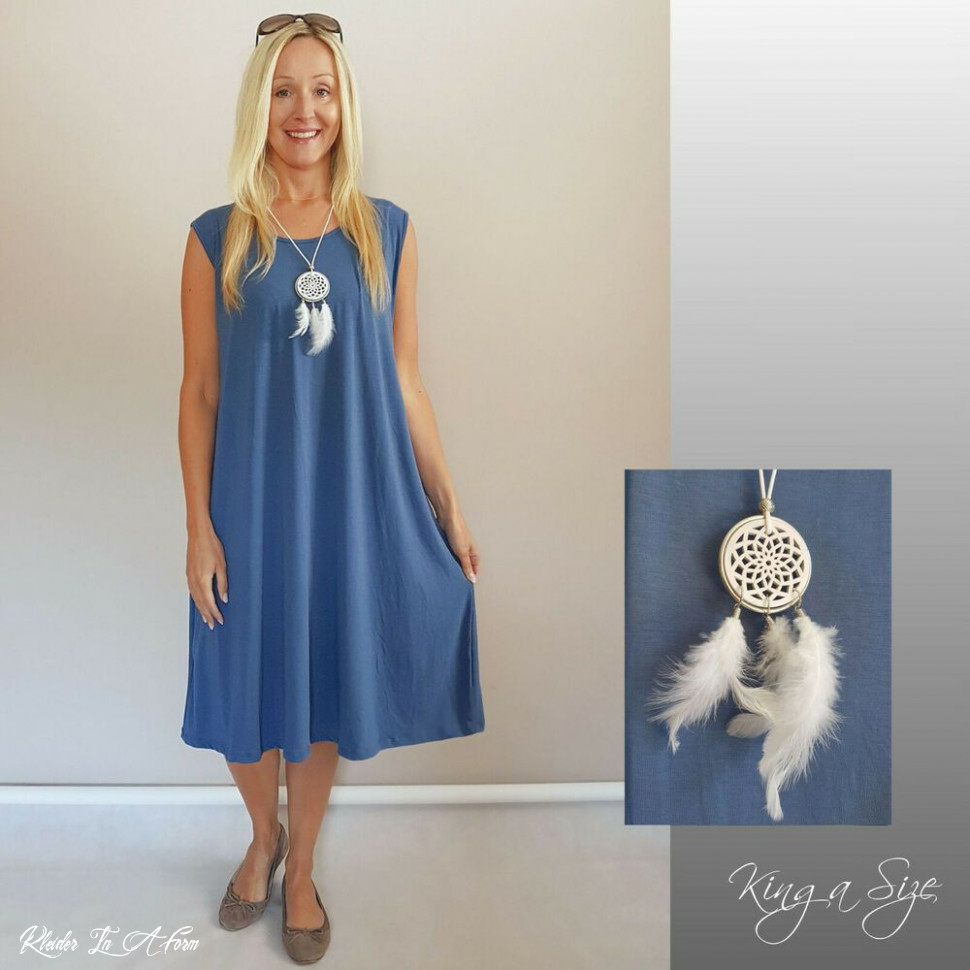italy jersey kleid & kette lagenlook lose a form plus size