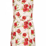 Jdy By Only Damen Mini Kleid Mit Bindegürtel Blumen Print Shell Rosa