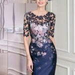 kleid brautmutter spitze satin blumenmuster #wedding #dress