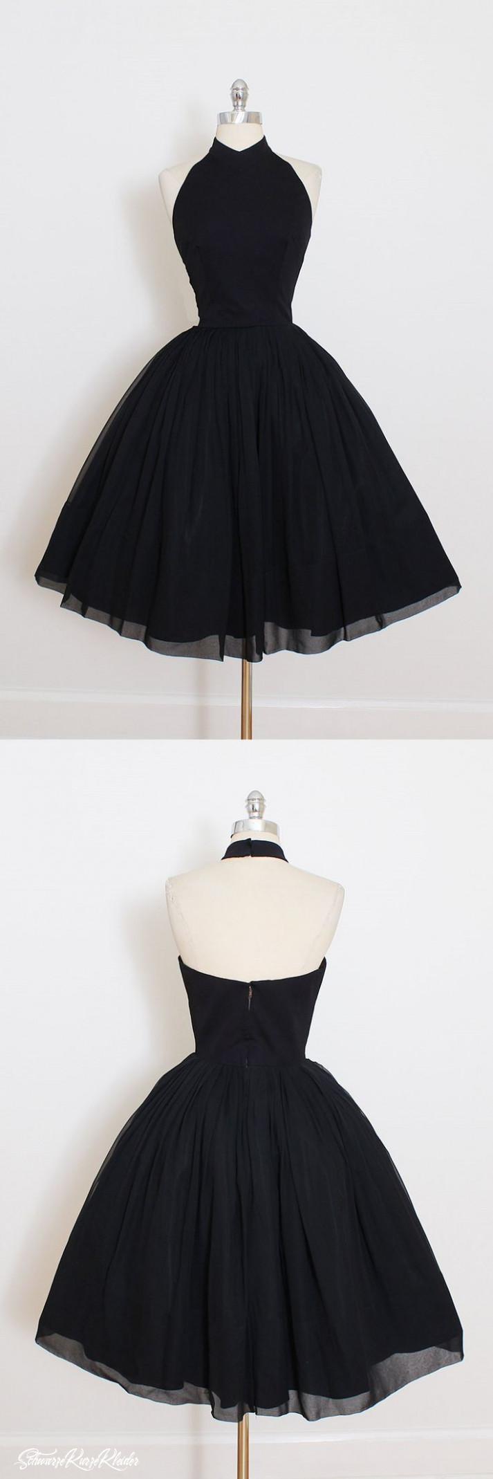 Little Black Dress, 12 Short Black Prom Dress, Vintage Prom