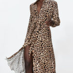 Long Animal Print Dress From Zara Bedruckte Kleider, Modestil