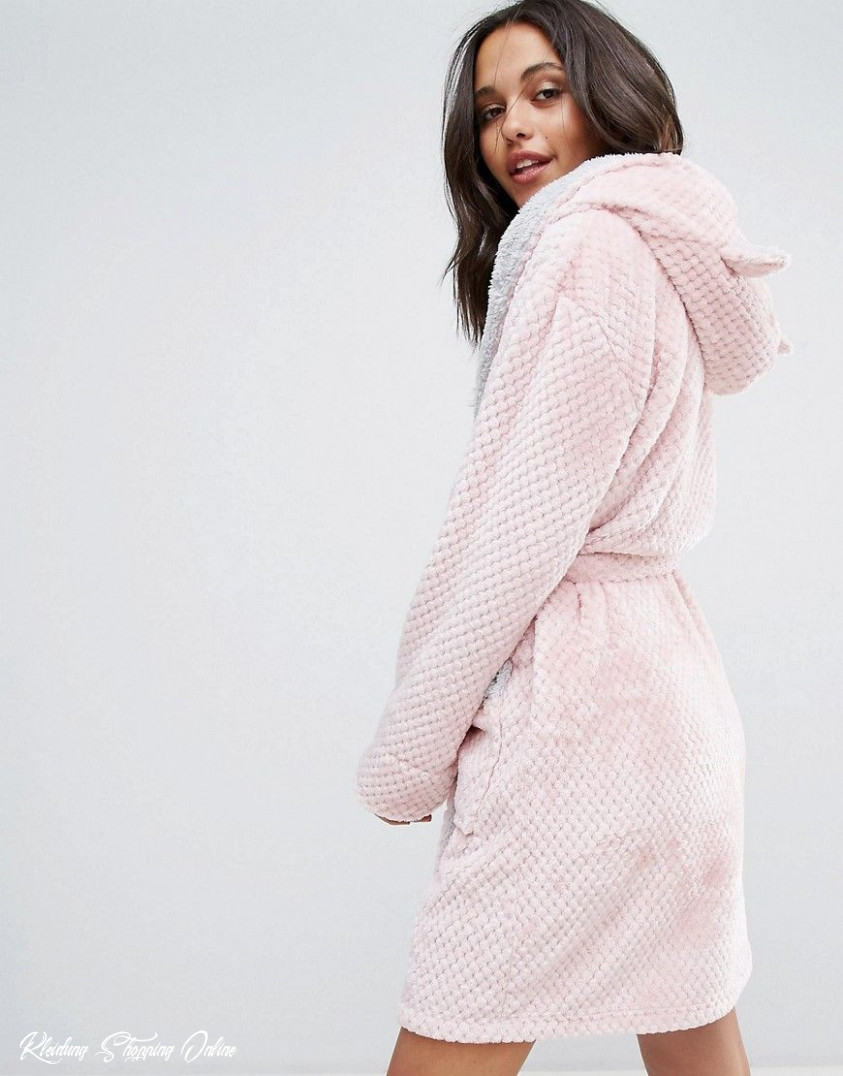loungeable cute teddy robe pink latest fashion clothes