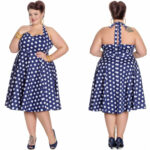 Marian Dress Rock N Roll Kleid Punkte Plussize Hellbunny