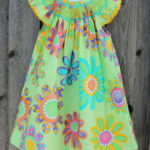Modern Lime Green Flower Dress From Smocked Auctions Mädchen