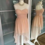 Neu Rare London Kleid Lachs Peach Rosa Abendkleid Abiballkleid