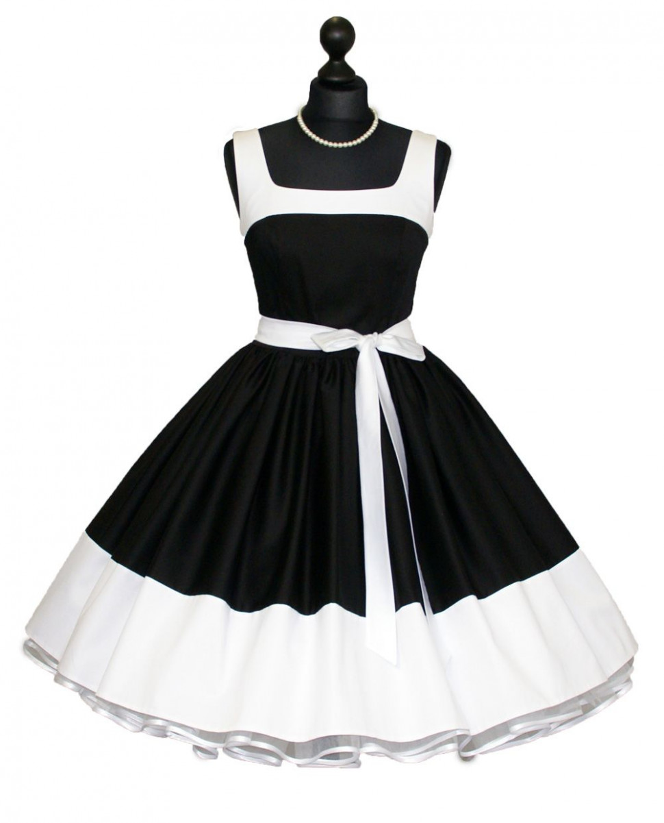 Petticoat Dress Black White Would Wear This In A Heart Beat