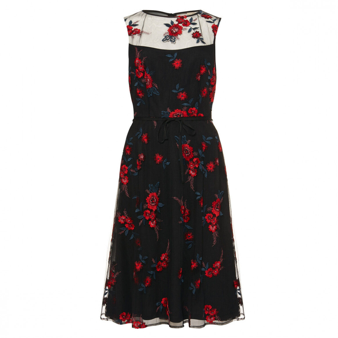 Phase Eight Damen Fit And Flare Kleid Maylin Mit Gestickten Blumen