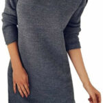 Prettyest Damen Kleider, Strickkleid Winter Kleid Langarm