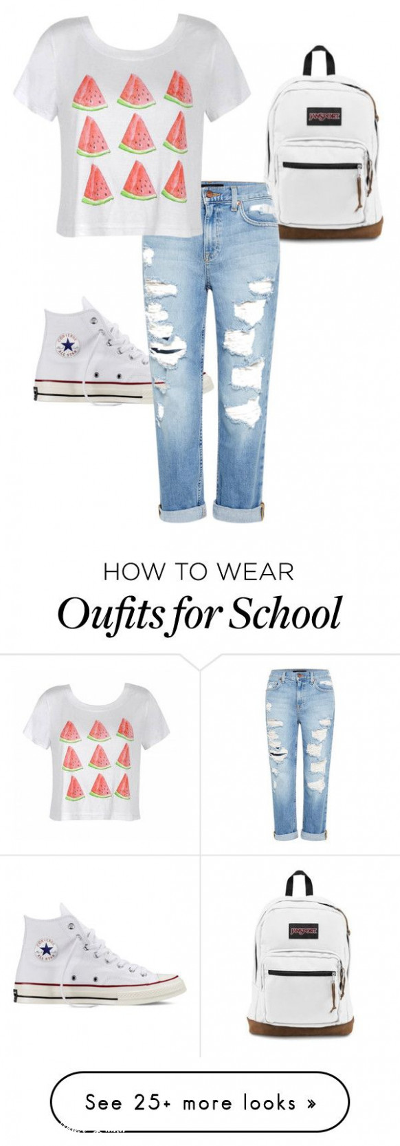 """school"""" by sarahhotten 10 on polyvore featuring converse, jansport"""