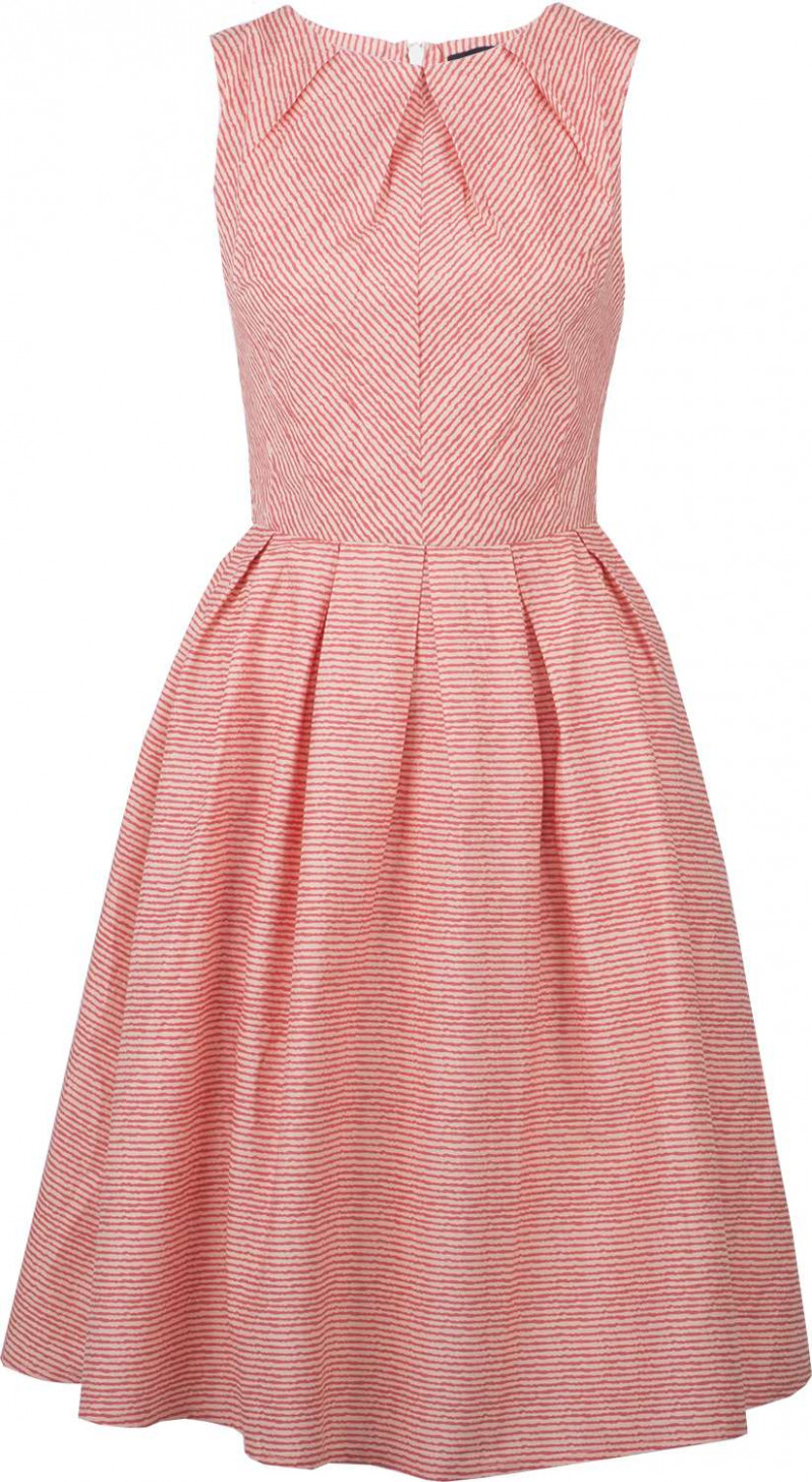 Sheen BREEZE Vintage STRIPED Streifen 12s SWING DRESS Kleid Lachs
