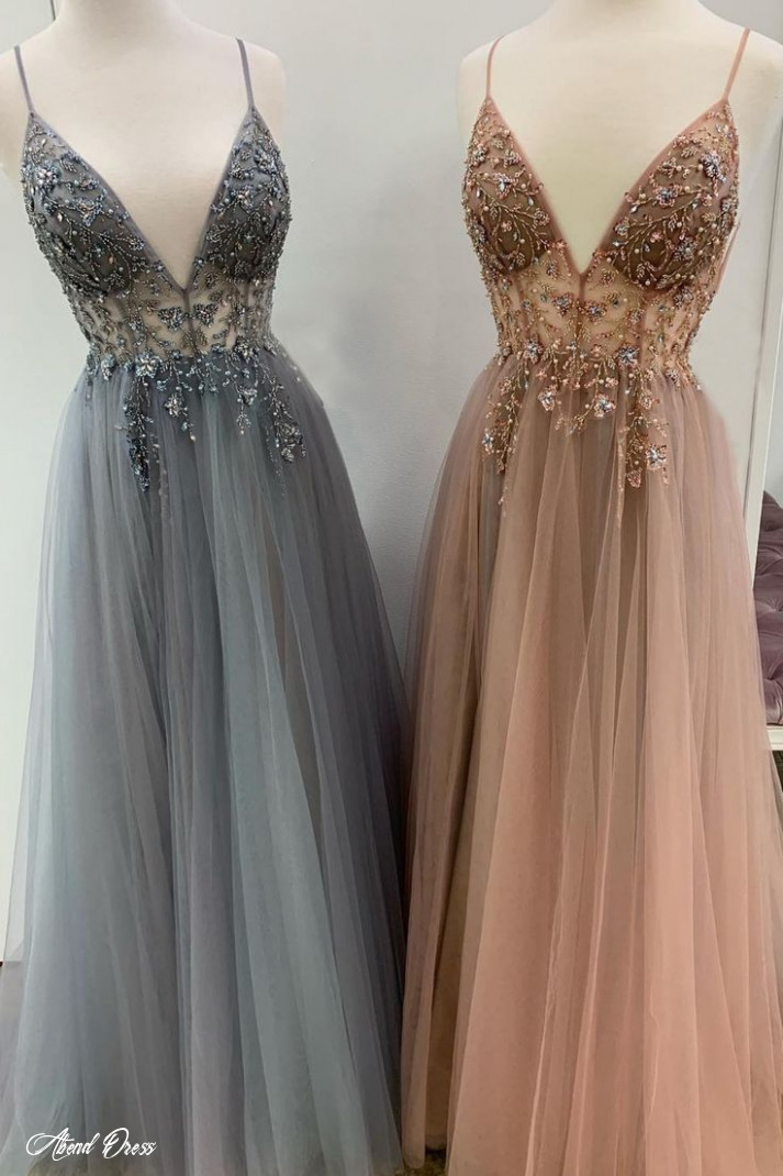 sparkly prom dresses aline spaghetti straps long grey prom dress