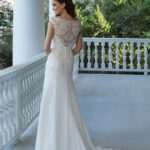 Style 8: Off the Shoulder Gown with Beaded Illusion Back and