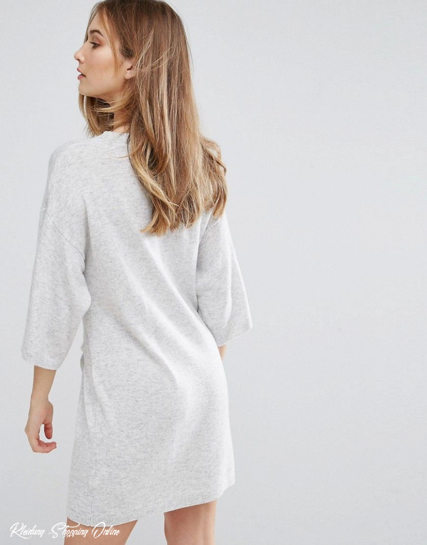 ted baker oversized cashmere mix sweater dress gray latest