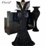 US $11.11 11% OFFHigh Fashion Sequins Arabic Prom Dress Long Dubai  Glitter Abendkleider Turkish Evening Dress 11 Abiye Cocktail Party Gowns  on