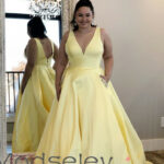Yellow Long Prom Dresses 11, Prom Dresses With Pockets, Plus