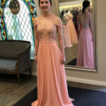 Zartes, Luftiges Abendkleid In Apricot! #apricot #eveningdresses